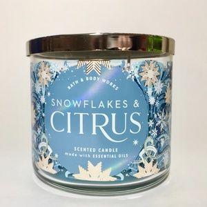 SNOWFLAKES & CITRUS 3 Wick